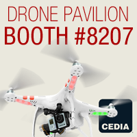 Drone Presentations and Flight Demos at CEDIA 2015 in Stampede and UVU's Drone Pavilion