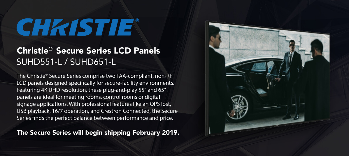 Christie Secure Series LCD Panels